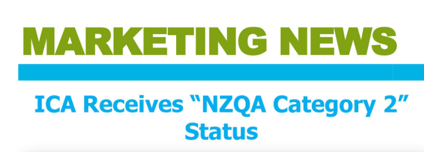 "ICA Receives ""NZQA Category 2"" Status"