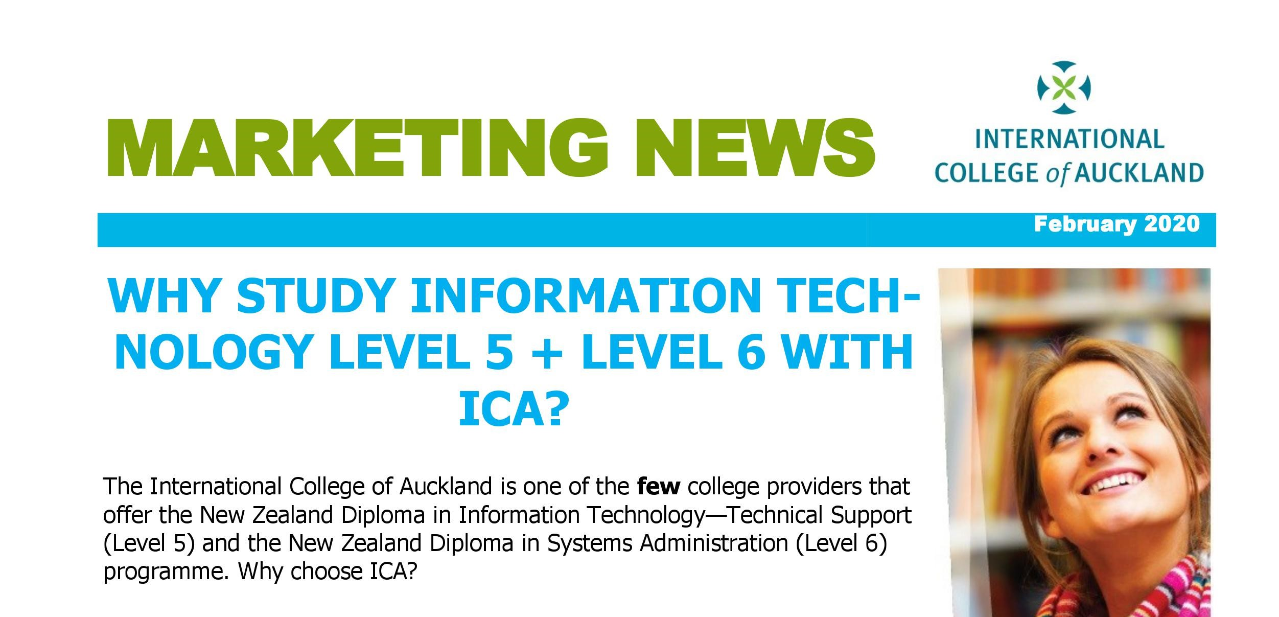 Why Study Information Technology Level 5 + Level 6 With ICA?