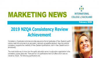 NZQA Consistency Review Achievement 2019